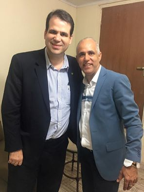Deputado Aureo se encontra com Pastor Claudio Duarte