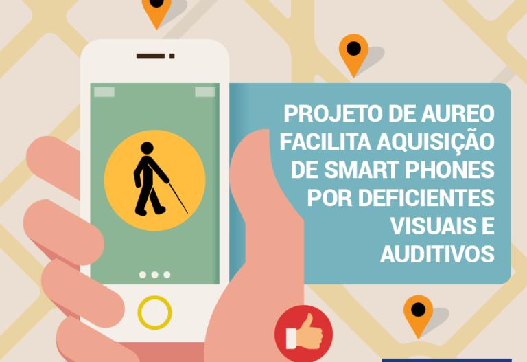 Isenção do imposto sobre industrializados para smartphone para deficientes visuais