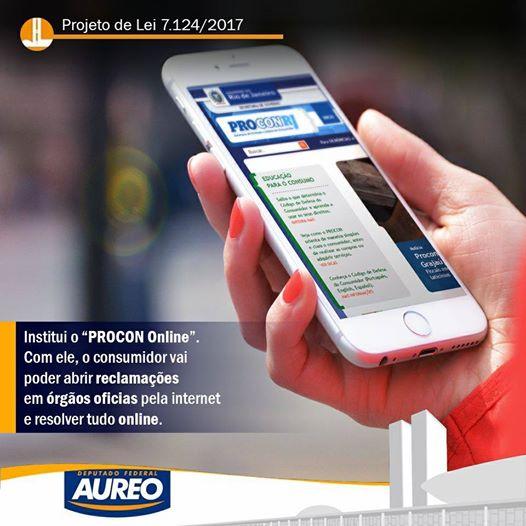 Read more about the article Deputado Aureo apresenta PL criando o Procon Online