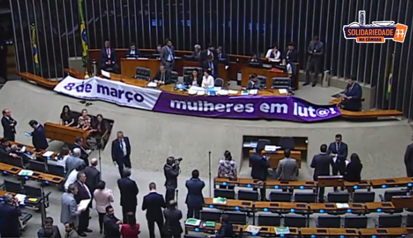 Aureo faz discurso em Plenário em homeangem ao Dia Internacional das Mulheres