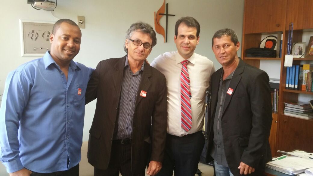 Aureo recebe em Brasília o prefeito de Natividade