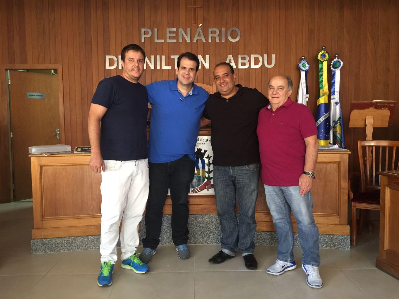 Visitando o meu amigo presidente da Câmara de Areal, vereador Marcelo Pipa