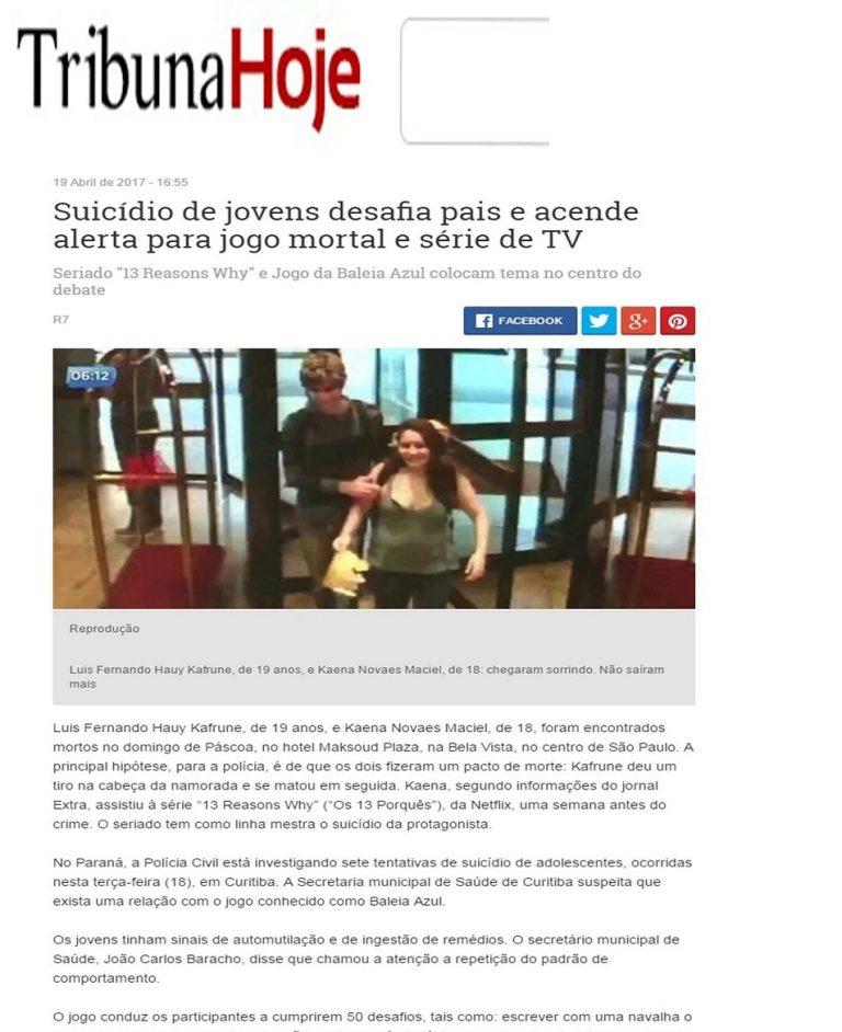 Suicídio de jovens desafia pais e acende alerta para jogo mortal e série de TV