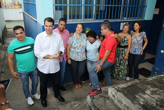 Aureo visita a Escola Municipal Dr. Álvaro Alberto