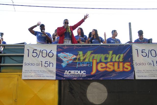 Aureo na Marcha para Jesus no bairro Pilar – Duque de Caxias