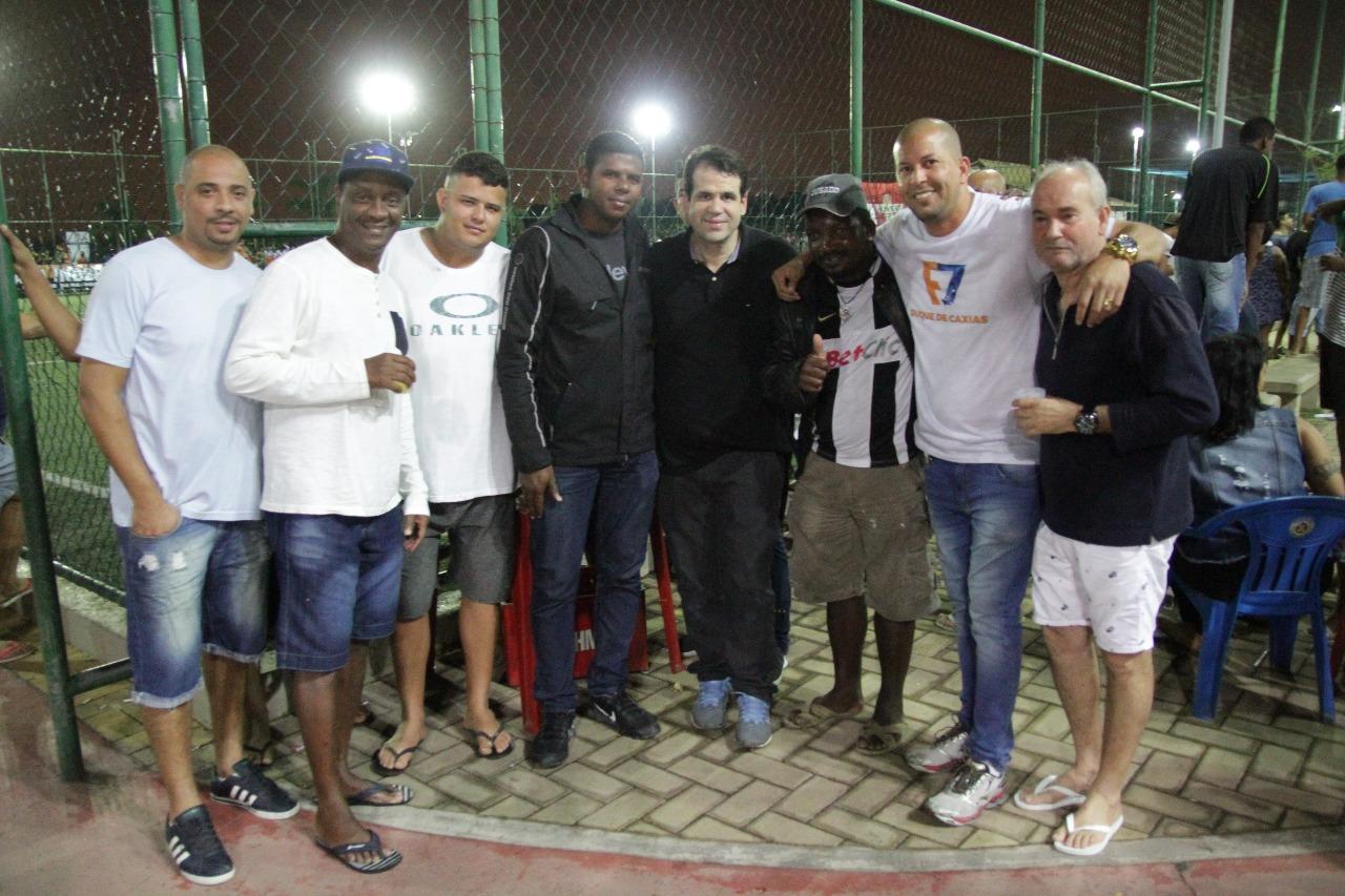 Aureo participa de evento da liga F7 no bairro Jardim leal em Duque de Caxias