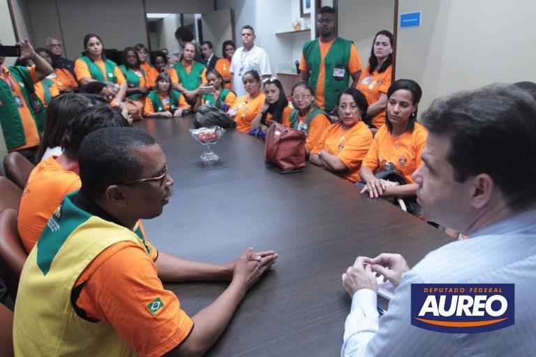 Em reunião com o deputado Aureo agentes de saúde reivindicam melhores condições de trabalho