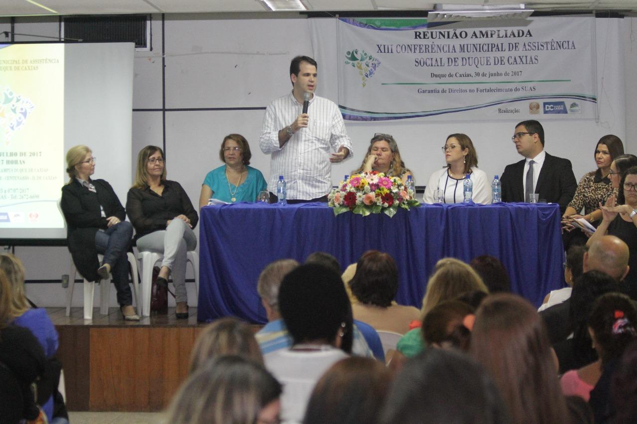 Reunião ampliada da XIII Conferência Municipal de Assistência Social de Duque de Caxias
