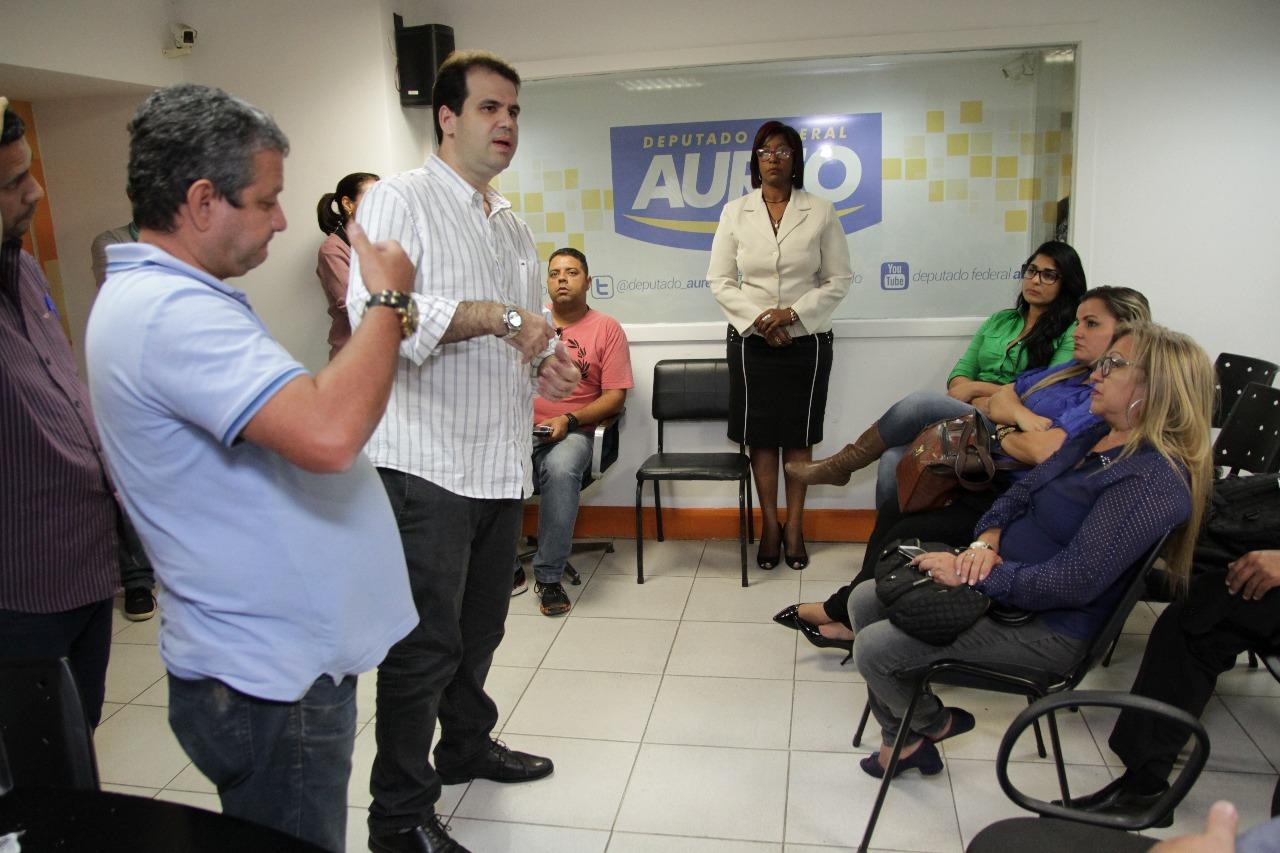 Reunião com a equipe Aureo