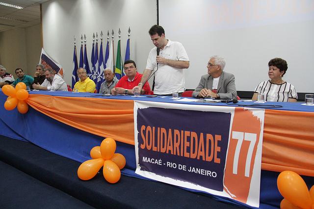 Aureo participa de convenção do Solidariedade no município de Macaé
