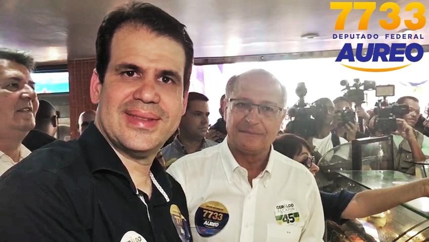 Aureo recebe o futuro presidente Geraldo Alckmin em Duque de Caxias – RJ