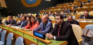 Aureo e parlamentares brasileiros na ONU
