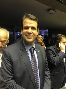 Aureo no plenário da Câmara dos Deputados