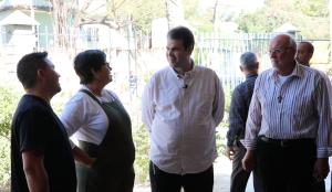 Deputado Aureo visita o projeto da Casa do Menor, em Nova Iguaçu.