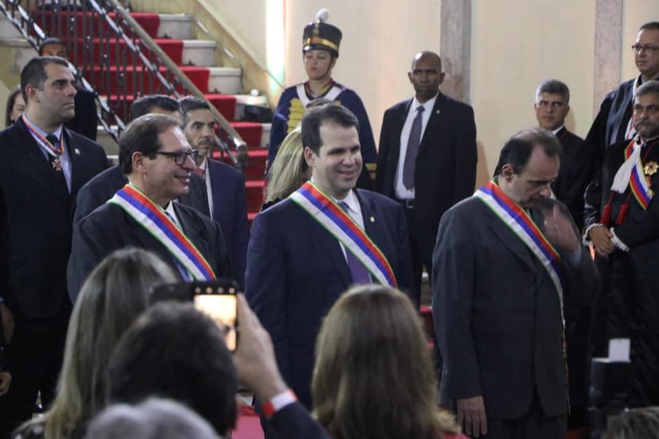 Da esquerda para direita: o ministro do STF Luis Felipe Salomão e o procurador-chefe do MPT João Batista Berthier Leite Soares