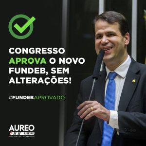 Deputado Aureo Ribeiro participou das discussões para aprovação do novo Fundeb na Câmara dos Deputados, em Brasília.